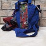 Ajrakh round sling bag 550Rs